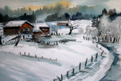 Winter I Aquarell 40 x 50