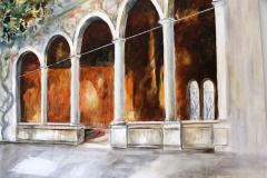 Säulen und Fresken
