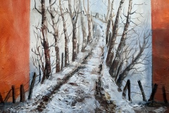 Winter-im-Allgaeu-Aquarell-auf-Leinwand-50-x-60