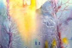 Morgenstimmung Aquarell 39x 56