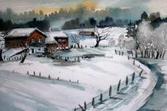 Winter I Aquarell 40 x 50