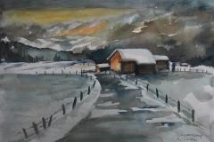 WinterII Aquarell 40 x 50