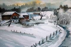 Winter III Aquarell 40 x 50