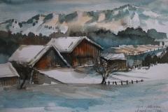 Winter IV Aquarell 40 x 50