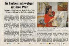 In Farben schwelgen ist ihre Welt   Allgäuer Zeitung 20. August 2010