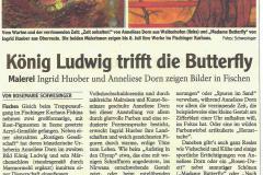 König Ludwig trifft die Butterfly Austellung Fischen