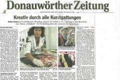 Kreativ durch alle Kunstgattungen  Donauwörther Zeitung 10.9.2010
