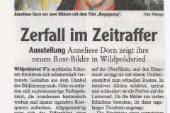 Zerfall im Zeitraffer Ausstellung Wildpoldsried Mai 2013